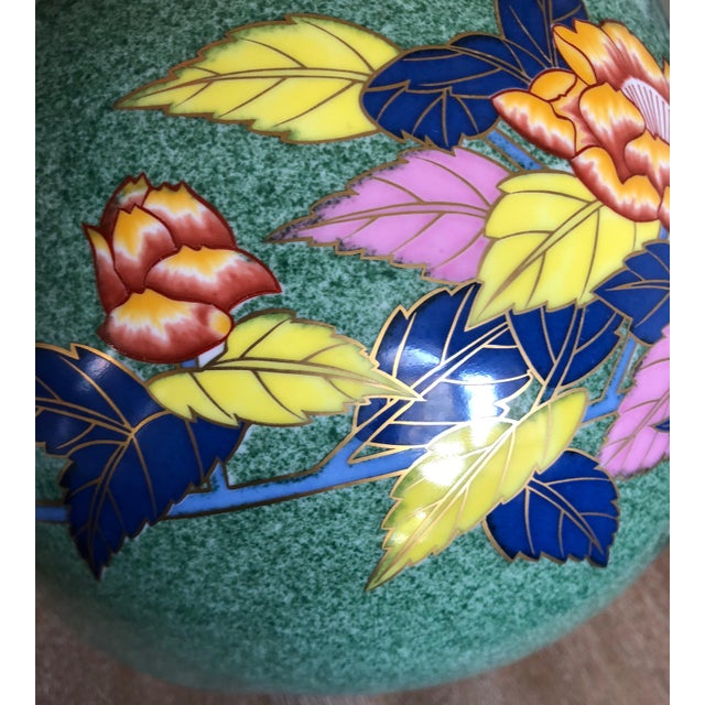 Late 20th Century Late 20th Century Vintage Bulbous Oriental Vase For Sale - Image 5 of 8