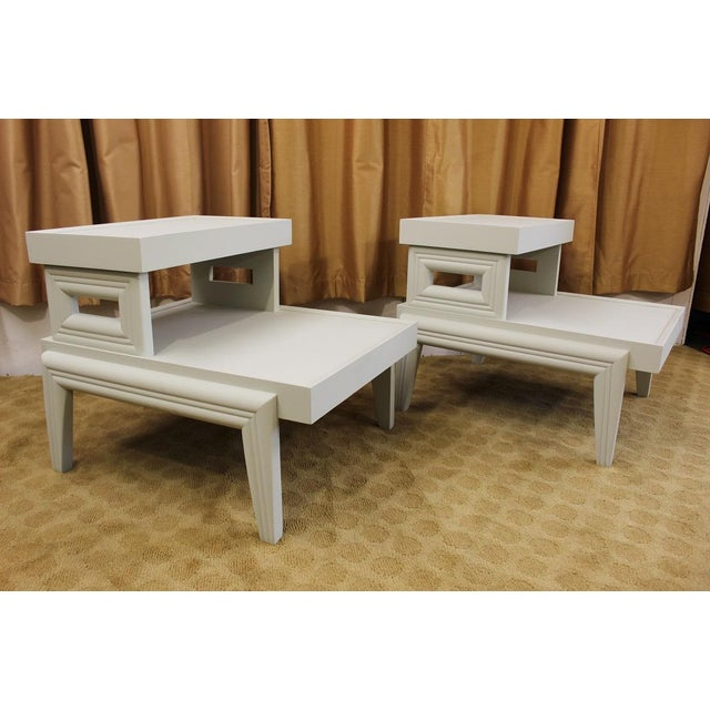 Mid-Century 1950s Step End Tables - A Pair - Image 2 of 9