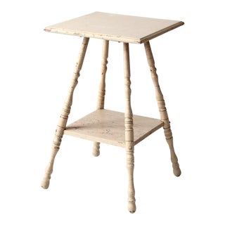 Antique Splay Leg End Table For Sale