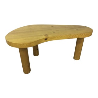 Charlotte Perriand Pine Tripod Coffee Table For Sale