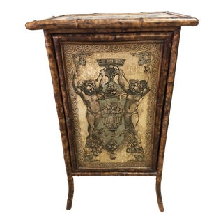 Antique English Bamboo Cabinet