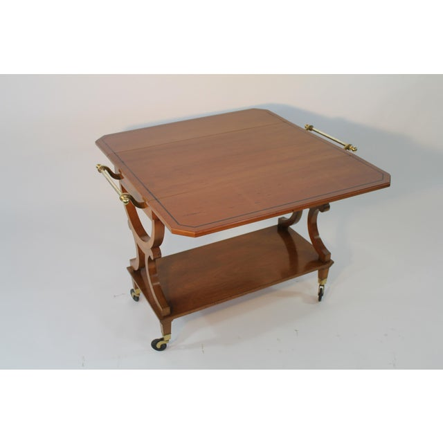 Traditional Kaplan Furniture Beacon Hill Serving Cart For Sale - Image 3 of 5
