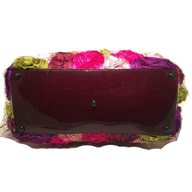 Valentino Valentino Multicolor Silk Rosier Rosettes Tote Bag For Sale - Image 4 of 10