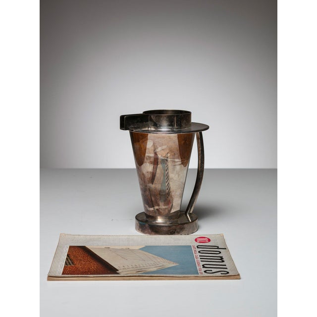 Silverplated Postomodern Pitcher For Sale - Image 4 of 5