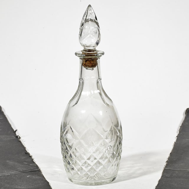 1960s Diamond Patterned Glass Decanter - Image 2 of 3