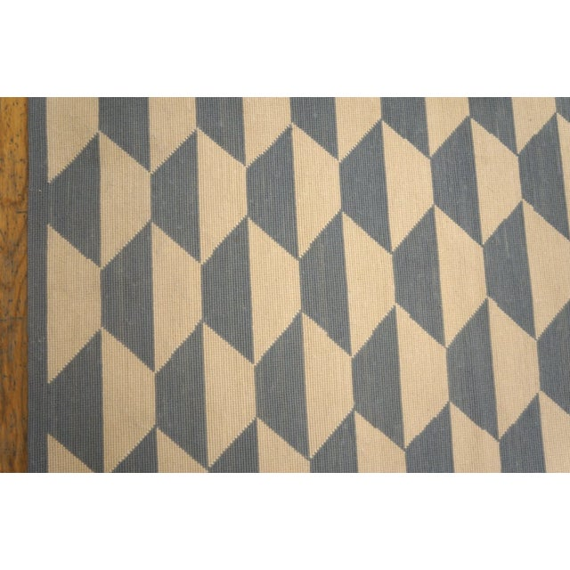 """Textile Modern Needlepoint Wool Rug 9'0"""" X 12'0"""" For Sale - Image 7 of 9"""