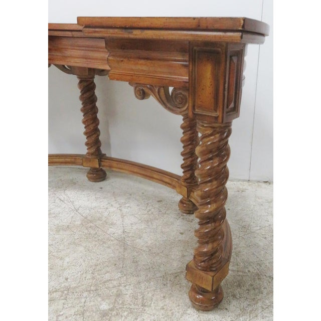 Wood Italian Style Faux Painted Demilune Desk For Sale - Image 7 of 10