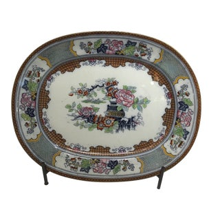 19th Century English Chinoiserie Platter For Sale