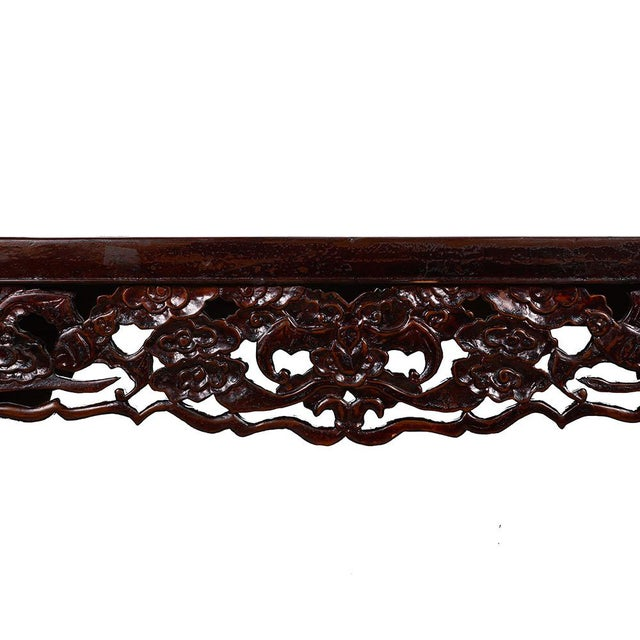 Chinese Antique Open Carved Altar Table For Sale - Image 4 of 10
