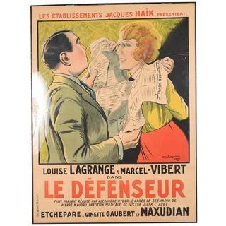 """Le Defenseur"" French Movie Poster For Sale"