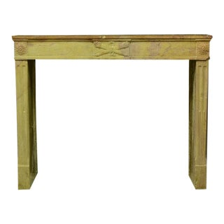 French Limestone Louis XVI Fireplace Mantel