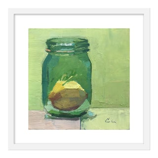 "Small ""Lemon in Jar"" Print by Caitlin Winner, 20"" X 20"" For Sale"