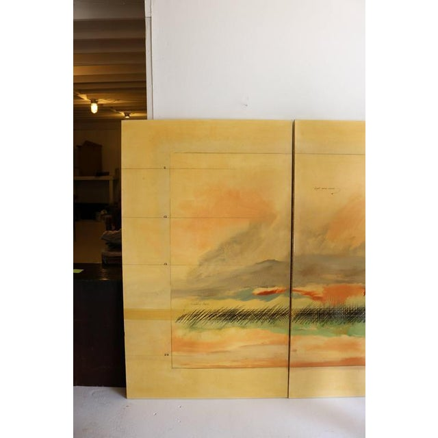 Modern Large Scale Oil on Canvas Impressionist Landscape Triptic by Robert Savoie For Sale - Image 3 of 11