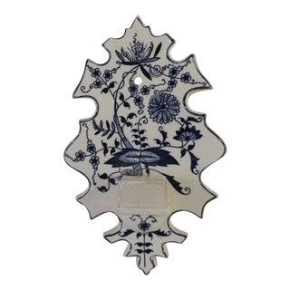 Vintage Delft Style Blue and White Porcelain Match Striker For Sale