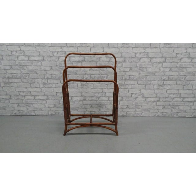 Asian Bamboo Rattan Blanket Towel Rack For Sale - Image 3 of 3