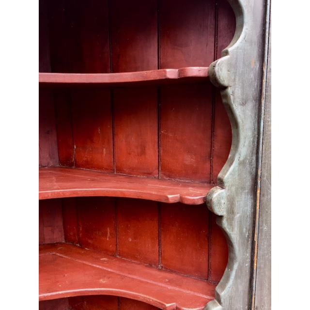 Early 19th Century 19th C Painted Corner Cupboard For Sale - Image 5 of 10