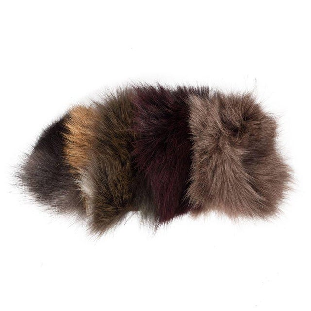 Black Luxurious Custom New Handmade Fox Fur Pillows in a Stunning Onyx Shade For Sale - Image 8 of 10