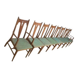 Vintage Bassett Gothic Modern Chairs - Set of 8 For Sale