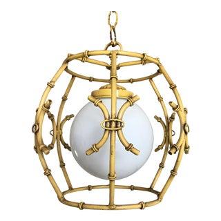 Mid-Century Bamboo Pendant Light For Sale