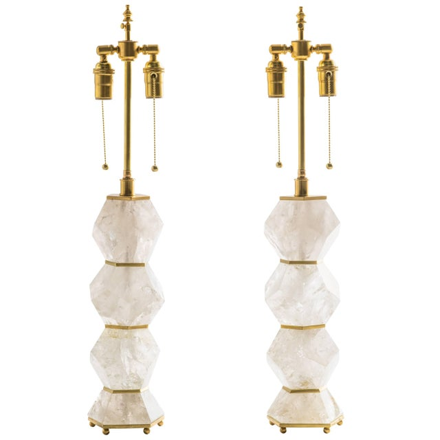 """Classic Rock Crystal Quartz Lamps - """"Eon Collection"""" For Sale - Image 10 of 10"""