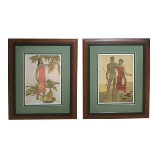 1950s Vintage Framed John Kelly Menu Covers - A Pair For Sale