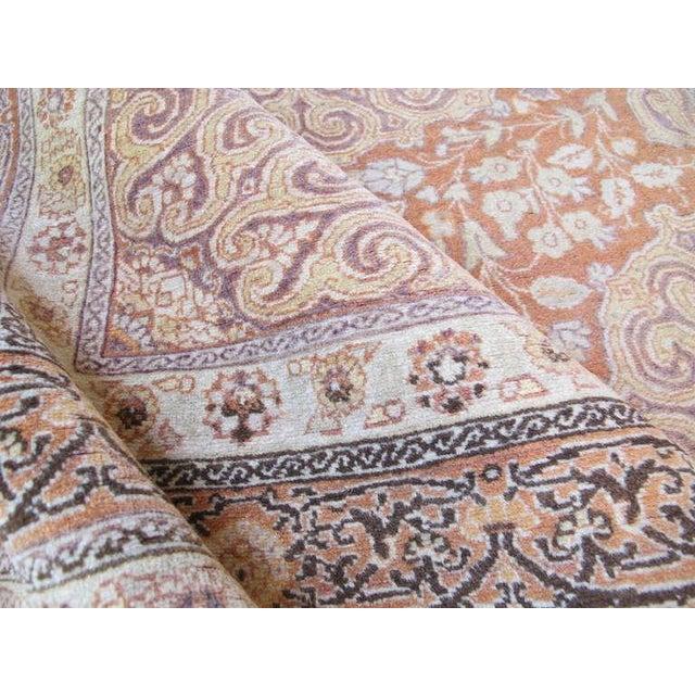 Tabriz Scatter Rug in Subtle Soft Colors For Sale - Image 4 of 4