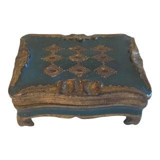 Vintage Italian Florentine Gilded Wood Trinket Box For Sale