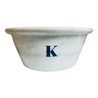 Mid 19th Century Victorian Large White Ironstone Bowl For Sale