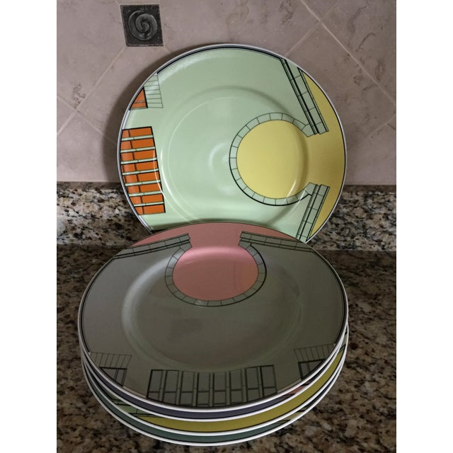 1980s Pastel Modern Chargers - Set of 5 For Sale - Image 10 of 13