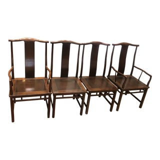 Wood Baker Chairs - Set of Four