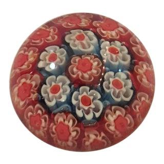 Murano Art Glass Millefiori Miniature Paperweight For Sale