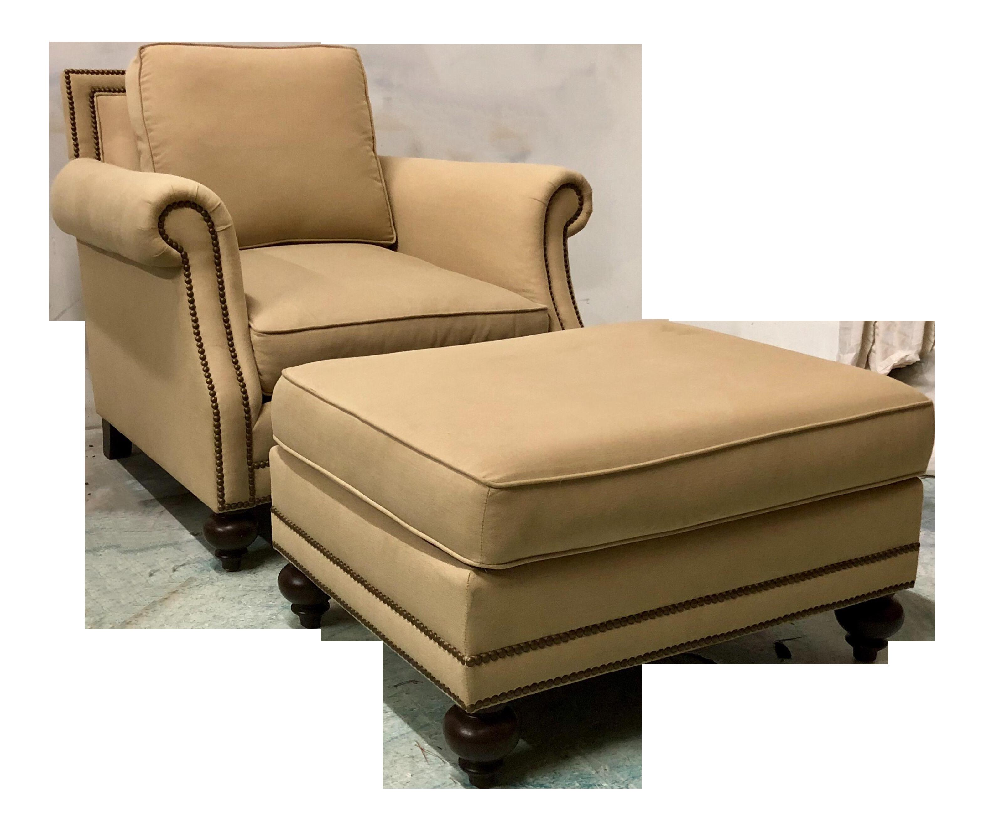 Bernhardt Club Chair U0026 Ottoman