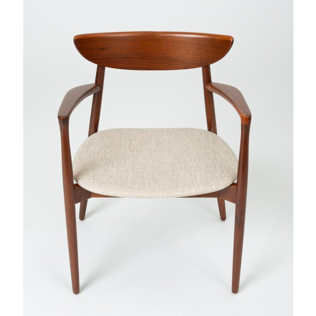 Mid-Century Modern Set of Four Dining Chairs by Harry Østergaard for Randers Møbelfabrik For Sale - Image 3 of 13