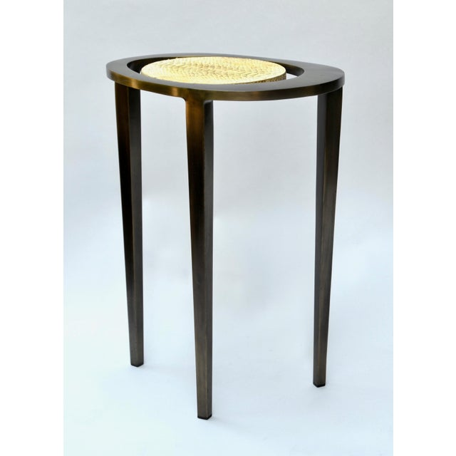 R & Y Augousti Bronze Nesting Side Tables - Image 4 of 10