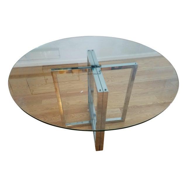 """Silverado Chrome 47"""" Round Dining Table - Image 1 of 5"""