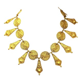 Genny, Italy Etruscan Revival Necklace For Sale