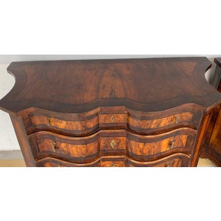 Stunning Pair of Georgian Style Burlwood Serpentine Chests Preview