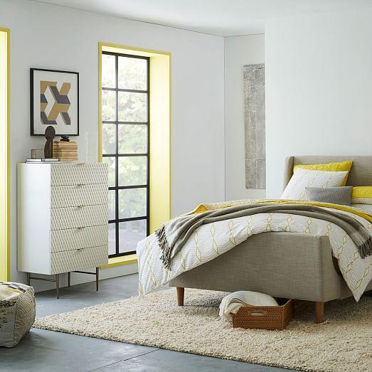 White West Elm Audrey 5-Drawer Dresser For Sale - Image 8 of 10