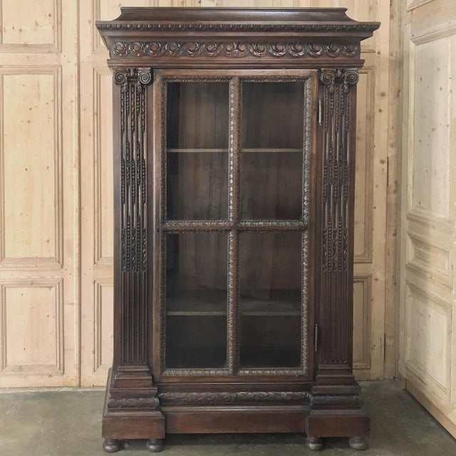 19th Century French Louis XVI Neoclassical Bookcase For Sale - Image 13 of 13