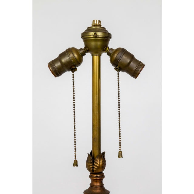 1930's Deco Inspired Copper Floor Lamp For Sale In San Francisco - Image 6 of 9