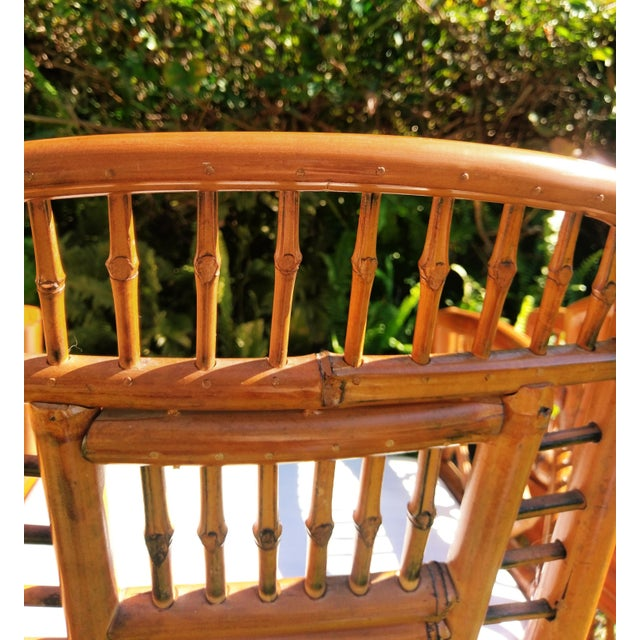 Vintage Mid Century Brighton Tiger Bamboo Chairs- A Pair For Sale - Image 9 of 13