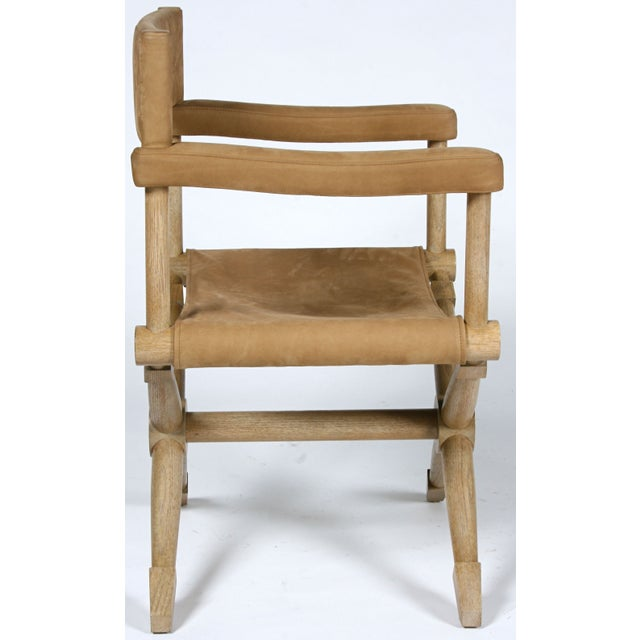 Pair of Suede Director's Chairs For Sale - Image 5 of 7