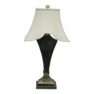Vintage Sarreid LTD Black Lacquer Table Lamp