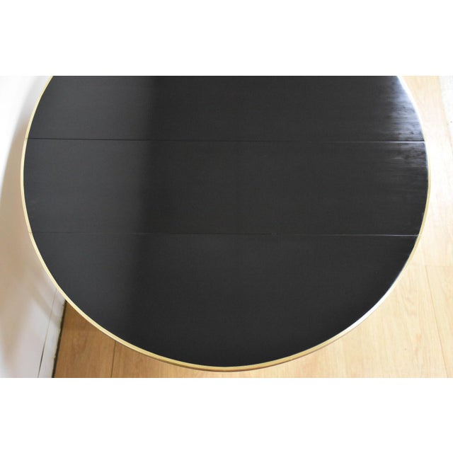Brass Paul McCobb Black Lacquer and Brass Dining Table For Sale - Image 7 of 11