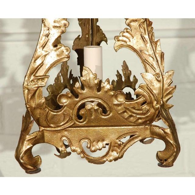 Pair of Venetian Style Tole Lantern Pendants - Image 4 of 8