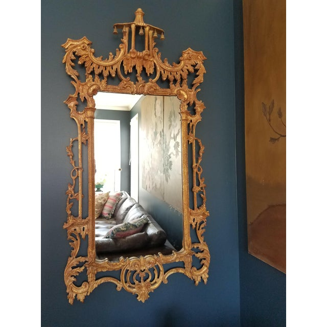 La Barge Chinese Chippendale Chinoiserie Pagoda Mirror