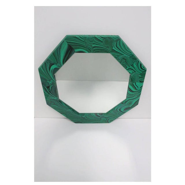 Green Malachite Octagonol Wall Mirror For Sale - Image 4 of 13