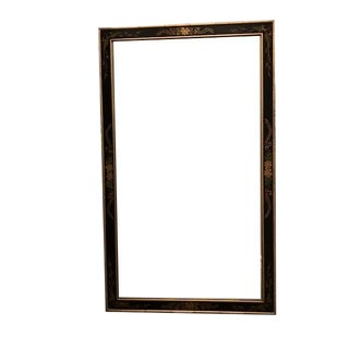 Vintage LaBarge Black & Gold Wall Mirror For Sale