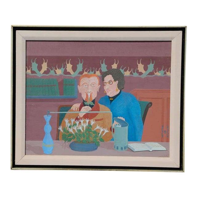 "Louis Auguste Dechelette 1964 ""Mixing Poison"" Painting For Sale"