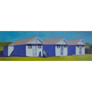 Carol C Young, 'Three Little Cottages' Acrylic Painting, 2017 For Sale